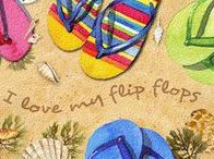 FLIP FLOPS! And Hand Painted Shoes / How many flip flops are in your closet right this minute?  Why don't we make custom flip flops?