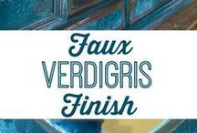 PAINTING/FAUX FINISHES / Love creative finishes in a home!