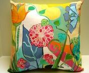 HAND PAINTED PILLOWS / Beautiful hand painted pillows for decor and unique designs.