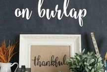 Fonts / Lettering on painted items are beautiful ways to use different fonts.
