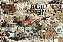 Digital Scrapbooking Goodies / by Gretchen Tripp