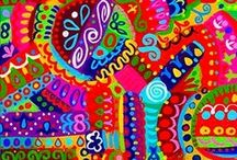 Color Riot! / Bright and exciting!!! / by Linda Halvorson