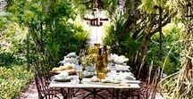 Al Fresco Dining / Take a step outside and enjoy the weather. Tablescapes for a beautiful outdoor gathering
