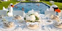 Spring & Summer Entertaining / Entertaining inspiration for a sweet spring or lovely summer day outdoors