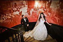 Glamorous Palmer House Wedding / Glamorous Chicago Wedding Photography: Carasco Photography http://www.carascophoto.com  Bride Wears Custom Ines Di Santo Gown at Glamorous Chicago Wedding  Palmer House Wedding | Italian Wedding | Greek Wedding | Luxury Weddings  https://www.insideweddings.com/weddings/bride-wears-custom-ines-di-santo-gown-at-glamorous-chicago-wedding/550/