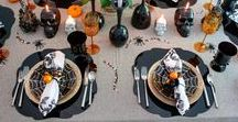 Halloween Table Decorations / Inspired table design, DIY Halloween decorations, party planning tricks, and creative hosting ideas for a hauntingly special Halloween party