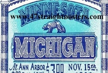 MICHIGAN FOOTBALL MICHIGAN FOOTBALL MICHIGAN FOOTBALL / Michigan football art. Michigan State football art. Michigan football gifts. Michigan football art made from authentic vintage Michigan and Michigan State football tickets. The BEST Michigan football art! Historic Michigan football posters and Michigan football canvas art. Michigan football art perfect for game rooms and offices! / by 47 STRAIGHT™