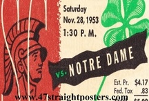 NOTRE DAME FOOTBALL NOTRE DAME FOOTBALL NOTRE DAME FOOTBALL / Notre Dame football art. Notre Dame football gifts. Notre Dame Football Ticket Coasters.™ Notre Dame football mugs. Notre Dame football art made from authentic Notre Dame football tickets in the 47 STRAIGHT Collection™ of the greatest college football tickets in the history of college football. The BEST Notre Dame football art! 47 STRAIGHT.™ / by Row One Brand