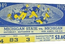 Michigan Football Tickets / Michigan Football Tickets turned into art and ROW 1™ Football Ticket Shirts. / by 47 STRAIGHT™