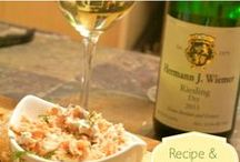 Food Pairings - White / Links to recipes for food and wine pairings with white wines.