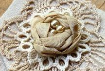Fabric Flowers / Inspiration, Tutorials, Art and Crafts