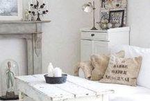 Home decor: Shabby White Home