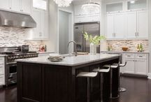 Home: Kitchen/Mudroom/Laundry Room / kitchen ideas. dream kitchen ideas. cupboards. lazy suzan. double oven. white kitchen. big kitchen. / by Tawny Vena