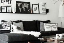Home: Family Room/Dining Room / Family room. living room decor. entertainment room. comfortable living. zgallerie. fun pillows.  / by Tawny Vena