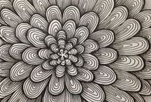 My Zentangles Work / My first steps / by Eva Quevedo Ruiz (Aveziur)