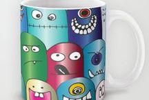 eqrAveziur Mugs Designs · Diseños de tazas de eqrAveziur / Drink your favorite beverage in this colorful and cheerful Mugs. / by Eva Quevedo Ruiz (Aveziur)