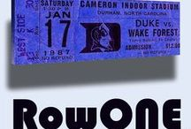 Row One Brand Retro Sports Gifts & Art / Retro sports art and retro sports gifts by Row One Brand. Vintage canvas art and unique sports gifts made from 3,000 historic sports tickets. Row One™ as seen on Forbes.com #Row1  / by Row One Brand