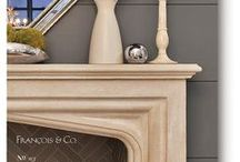 2018 Gothic Mantel Catalog / The GOTHIC COLLECTION | Gothic design brings to mind the imposing facade of Notre Dame cathedral in Paris— Great stone monuments to God, that reach for the heavens and tower over the surrounding town. Airy vaulted arches, flying buttresses, and vast stained-glass windows depicting detailed religious scenes are some typical features. 'Gothic style' is redolent of luxury and opulence, conjuring romance and power. Check out the entire catalog at http://francoisandco.com/catalogs/gothic-mantels/