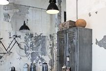 Industrial Impact / Inspirations and fabulous finds for an industrial decor.