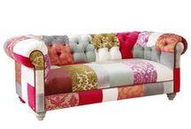 Patchwork Modası / Patchwork modası evinizde; koltuklar, puflar, sandalyeler..