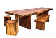 Ahşap Mobilya / Doğal ahşap mobilyalarla dekorasyonda antik izler..