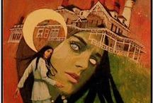 Vintage Pulp Book Covers / Horror, thrillers, sexploitation, mystery fiction & gothic romance.