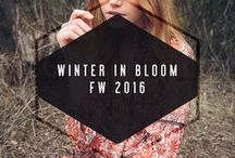 Winter In Bloom // FW 2016 / Our FALL collection coming soon on our website, www.adelynrae.com