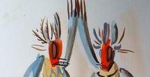 Watercolor, Gouache & Ink