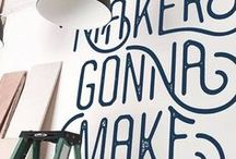 Words on Walls / ...and other things. #typographylove