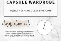 Capsule Wardrobe for Stylish & Busy Minimalists / How to create a capsule wardrobe so that you love everything outfit you put on, feel confident in everything you wear, and save time getting dressed. Examples and how to articles!