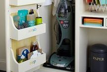 Clever Home Organization / Clever & useful methods and tools for organizing your home- oh, and they look pretty, too!