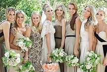 bridesmaids dresses / It can be difficult to have all the girls agree on one dress that suits them all. So, why not consider letting them all wear different dresses with the same pattern or color scheme? Or, let them all choose a sequin dress in different styles! Your bridesmaids will love you for it!