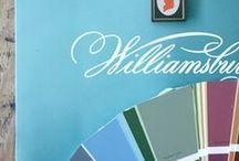 Williamsburg Paint by Benjamin Moore / Williamsburg approved paint colors by Benjamin Moore.
