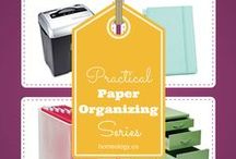 ORGANIZE: Paper / This board is all about tackling your paper piles and fixing your files; creating paper management systems, organizing your paperwork and home office for good.