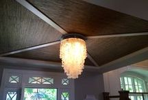 The Fifth Wall / Don't forget about your ceiling! Paint or paper, it's another surface to add color.