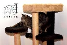 Handcrafted by Petish / Give your cat a chance to play and relax in a space of her own, where she can sleep or just observe your house activities from height.  Our playground suits are custom made, and you can choose from a wide range of: size, colors, patterns and accessories. For details please visit our facebook page!