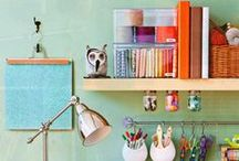 Organize & Create / Ways to organize workspace to foster creativity and efficiency.