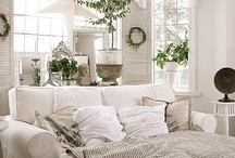 My White on White House / My dream home is all white with splashes of colour here and there.
