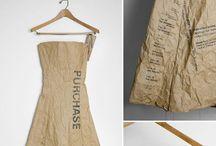 PAPER DRESS/CARDS / Papieren jurkjes / ontwerpen / cards