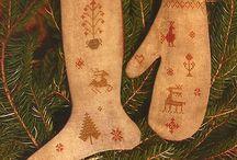 cross stitch winter/xmas/valentine