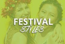 Festival Hair Styles / The perfect place to get your daily dose of festival season inspiration.  From braids to boho, we've got you covered.