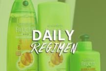 Daily Regimen / Searching for your shampoo soul mate? Whether you've got frizzy strands or heat damaged hair; dry locks or unruly tresses, click to find your perfect Garnier Fructis shampoo match!