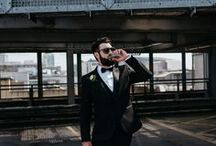 Grooms / Stylish grooms and their groomsmen