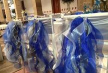 〰Butterfly Linens: Royal blue, navy and sky blue / Linens and textiles to create beautiful events