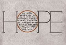 Give HOPE. / by Sarah Baker