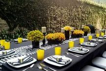 〰Butterfly Linens: black and white / Linens and textiles to create beautiful events
