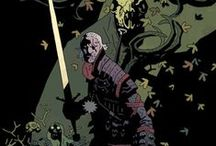 Mike Mignola Art / I've talked about Mignola in a number of places, but his work in general (and Hellboy in specific) has always been a big influence for me. This is a collection of some of the pieces that inspire me -- and ones that I just like!