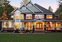 Dream House from the Curb / Exterior styles of beautiful dream houses. / by Tamara Wallace