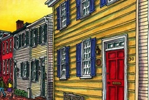 Annapolis, Maryland / Limited edition signed prints by Roxie at the Annapolis Collection, 55 West Street.
