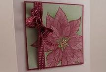 Poinsettias and Joyful Christmas: samples and inspiration